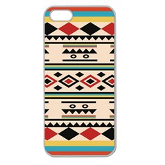 Tribal Pattern Apple Seamless Iphone 5 Case (clear)