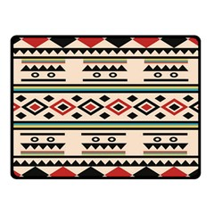 Tribal Pattern Double Sided Fleece Blanket (small)  by BangZart