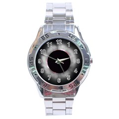 Solar Eclipse Stainless Steel Analogue Watch