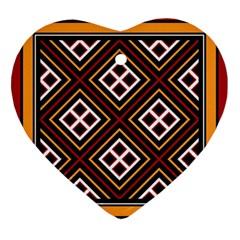 Toraja Pattern Pa re po  Sanguba ( Dancing Alone ) Ornament (heart)