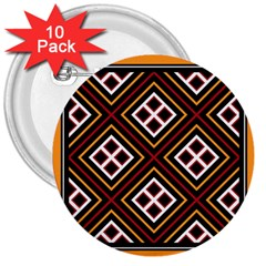 Toraja Pattern Pa re po  Sanguba ( Dancing Alone ) 3  Buttons (10 Pack)