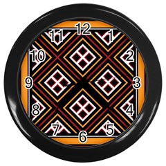 Toraja Pattern Pa re po  Sanguba ( Dancing Alone ) Wall Clocks (black) by BangZart