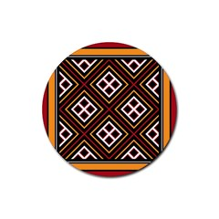 Toraja Pattern Pa re po  Sanguba ( Dancing Alone ) Rubber Round Coaster (4 Pack)