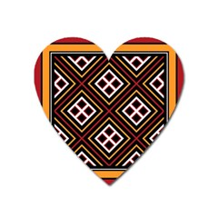 Toraja Pattern Pa re po  Sanguba ( Dancing Alone ) Heart Magnet