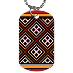 Toraja Pattern Pa re po  Sanguba ( Dancing Alone ) Dog Tag (two Sides) by BangZart