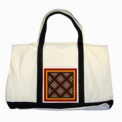 Toraja Pattern Pa re po  Sanguba ( Dancing Alone ) Two Tone Tote Bag by BangZart