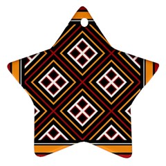 Toraja Pattern Pa re po  Sanguba ( Dancing Alone ) Star Ornament (two Sides)