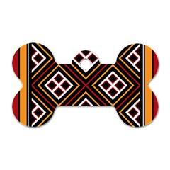 Toraja Pattern Pa re po  Sanguba ( Dancing Alone ) Dog Tag Bone (two Sides)