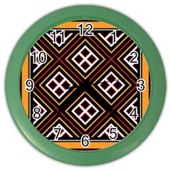 Toraja Pattern Pa re po  Sanguba ( Dancing Alone ) Color Wall Clocks by BangZart