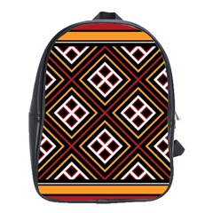 Toraja Pattern Pa re po  Sanguba ( Dancing Alone ) School Bags(large)  by BangZart
