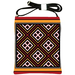 Toraja Pattern Pa re po  Sanguba ( Dancing Alone ) Shoulder Sling Bags by BangZart