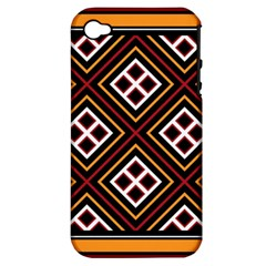 Toraja Pattern Pa re po  Sanguba ( Dancing Alone ) Apple Iphone 4/4s Hardshell Case (pc+silicone)