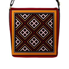 Toraja Pattern Pa re po  Sanguba ( Dancing Alone ) Flap Messenger Bag (l)  by BangZart