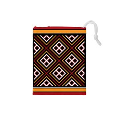 Toraja Pattern Pa re po  Sanguba ( Dancing Alone ) Drawstring Pouches (small)  by BangZart