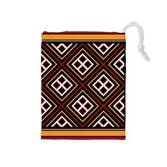 Toraja Pattern Pa re po  Sanguba ( Dancing Alone ) Drawstring Pouches (medium)  by BangZart