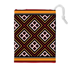 Toraja Pattern Pa re po  Sanguba ( Dancing Alone ) Drawstring Pouches (extra Large) by BangZart