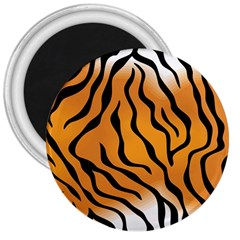 Tiger Skin Pattern 3  Magnets by BangZart