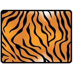 Tiger Skin Pattern Double Sided Fleece Blanket (large)