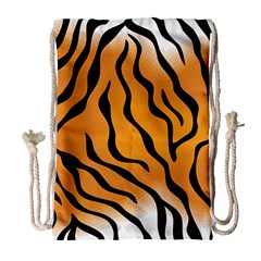 Tiger Skin Pattern Drawstring Bag (large)