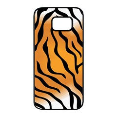 Tiger Skin Pattern Samsung Galaxy S7 Edge Black Seamless Case by BangZart