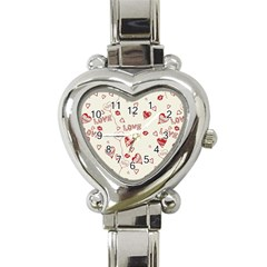 Pattern Hearts Kiss Love Lips Art Vector Heart Italian Charm Watch