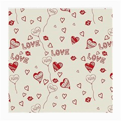 Pattern Hearts Kiss Love Lips Art Vector Medium Glasses Cloth