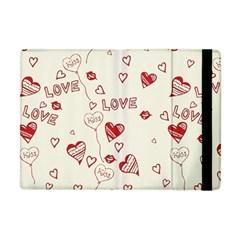 Pattern Hearts Kiss Love Lips Art Vector Apple Ipad Mini Flip Case by BangZart