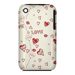 Pattern Hearts Kiss Love Lips Art Vector Iphone 3s/3gs