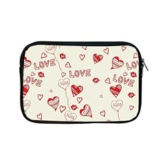 Pattern Hearts Kiss Love Lips Art Vector Apple Ipad Mini Zipper Cases