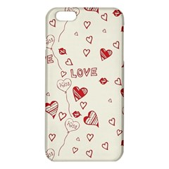 Pattern Hearts Kiss Love Lips Art Vector Iphone 6 Plus/6s Plus Tpu Case by BangZart
