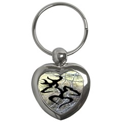 Black Love Browning Deer Camo Key Chains (heart)