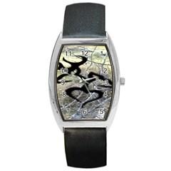 Black Love Browning Deer Camo Barrel Style Metal Watch