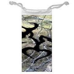 Black Love Browning Deer Camo Jewelry Bag