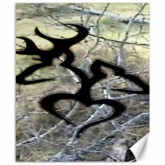 Black Love Browning Deer Camo Canvas 8  X 10
