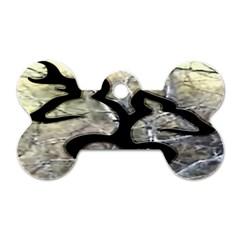 Black Love Browning Deer Camo Dog Tag Bone (two Sides)