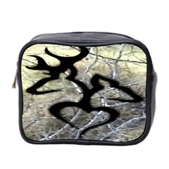 Black Love Browning Deer Camo Mini Toiletries Bag 2 Side