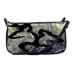Black Love Browning Deer Camo Shoulder Clutch Bags