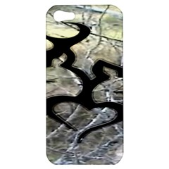 Black Love Browning Deer Camo Apple Iphone 5 Hardshell Case