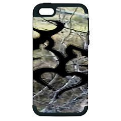 Black Love Browning Deer Camo Apple Iphone 5 Hardshell Case (pc+silicone) by BangZart