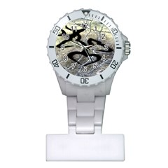 Black Love Browning Deer Camo Plastic Nurses Watch