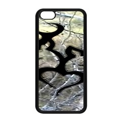 Black Love Browning Deer Camo Apple Iphone 5c Seamless Case (black) by BangZart