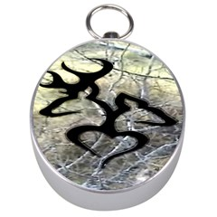 Black Love Browning Deer Camo Silver Compasses