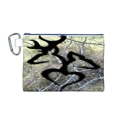 Black Love Browning Deer Camo Canvas Cosmetic Bag (m) by BangZart