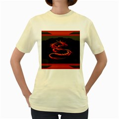 Dragon Women s Yellow T Shirt