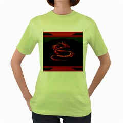 Dragon Women s Green T Shirt