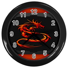 Dragon Wall Clocks (black)