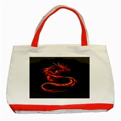 Dragon Classic Tote Bag (red)