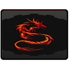 Dragon Double Sided Fleece Blanket (large)