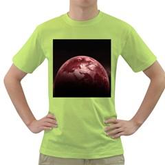 Planet Fantasy Art Green T Shirt