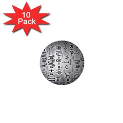 Science Formulas 1  Mini Buttons (10 Pack)  by BangZart